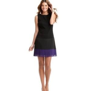 NWT Ann Taylor Loft Pleated Color Block Dress